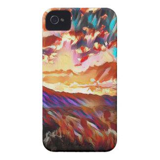 Vibrierender majestätischer Gebirgssonnenuntergang iPhone 4 Hüllen