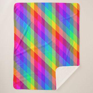 Vibrierender Regenbogen farbiges Prisma Sherpadecke