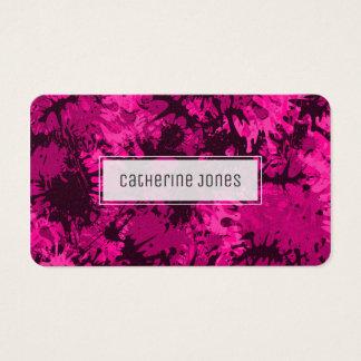 Vibrierender rosa Farben-Spritzer, abstrakt, Visitenkarte