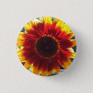 Vibrierender roter und gelber runder button 3,2 cm