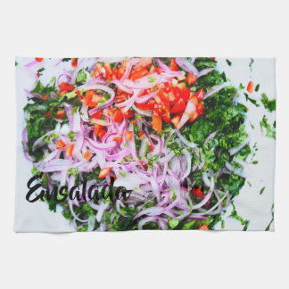 Vibrierender Salat Geschirrtuch