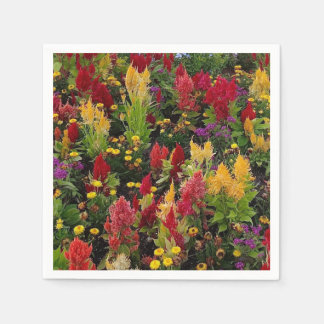 Vibrierender Sommer-Blumen-Garten in Orlando Papierservietten