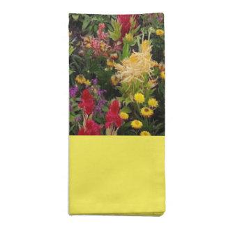 Vibrierender Sommer-Blumen-Garten in Orlando Stoffserviette