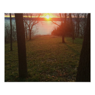 Vibrierender Sonnenuntergang Poster