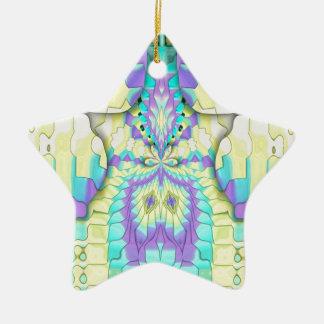 Vibrierendes festliches Neonabstraktes Keramik Ornament