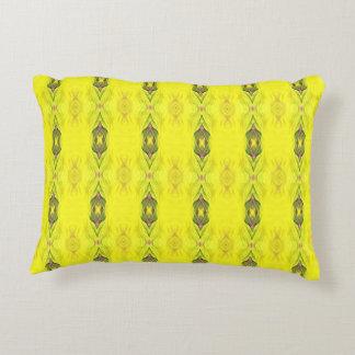 Vibrierendes gelbes nahtloses Muster Zierkissen