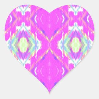 Vibrierendes Girly heißes Neonpastellrosa Herz-Aufkleber
