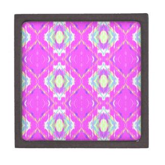 Vibrierendes Girly heißes Neonpastellrosa Schachtel