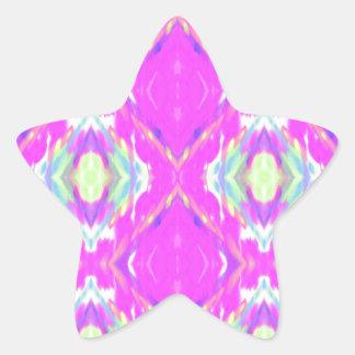 Vibrierendes Girly heißes Neonpastellrosa Stern-Aufkleber