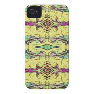 Vibrierendes mehrfarbiges künstlerisches Muster iPhone 4 Hülle
