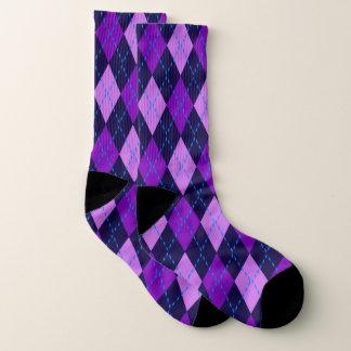 Vibrierendes Rautenmuster Socken
