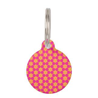 Vibrierendes rosa und gelbes abstraktes mit tiermarke