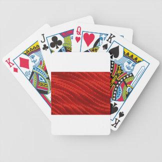 Vibrierendes rotes Punkt- u. Wellenmuster Bicycle Spielkarten