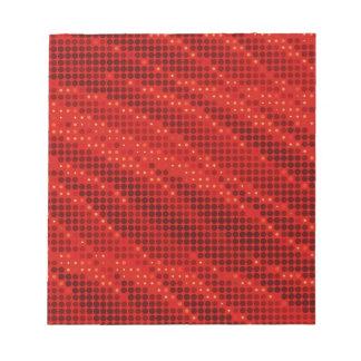 Vibrierendes rotes Punkt- u. Wellenmuster Notizblock