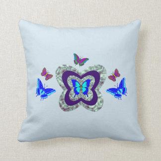 Vibrierendes Schmetterlings-Wurfs-Kissen Kissen