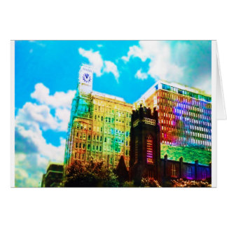 vibrierendes Stadtzentrum Grußkarte