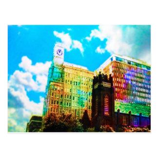 vibrierendes Stadtzentrum Postkarte