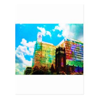 vibrierendes Stadtzentrum Postkarten