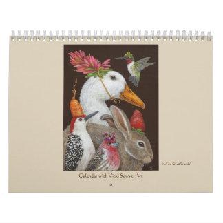 Vicki Sawyer Kunstkalender für 2018 Abreißkalender