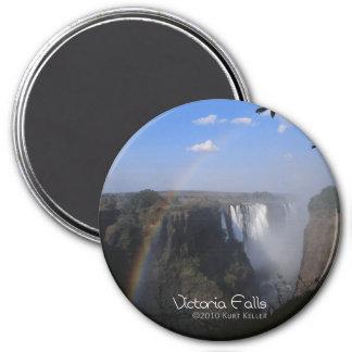 Victoria-Fall 1 Runder Magnet 7,6 Cm