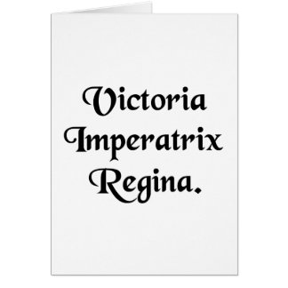 Victoria, Kaiserin und Königin Karte