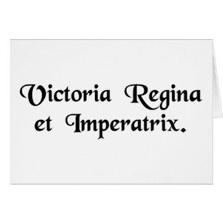 Victoria, Königin und Kaiserin Karte