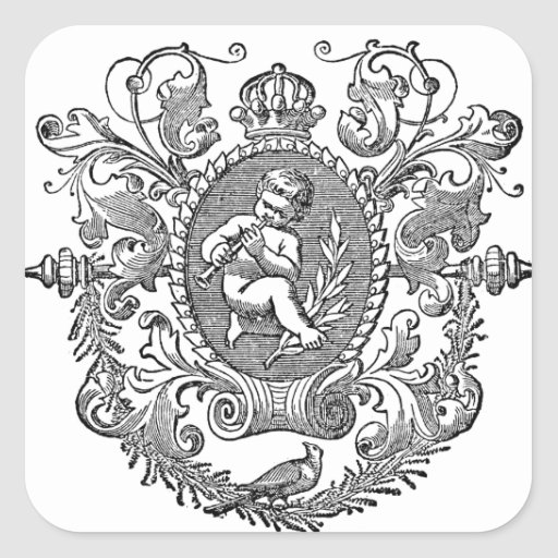 victorian ornamental Cherub Aufkleber
