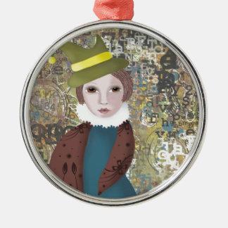 Victoriana Silbernes Ornament