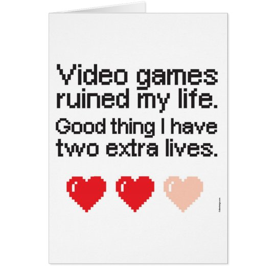 Video Games ruined my life Weihnachtskarte Karte