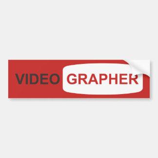 Videographer oder Youtuber Autoaufkleber