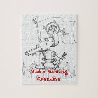 Videospiel-Großmutter Puzzles