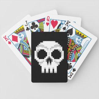 Videospiel-Todesschädel - Pixel-Kunst Bicycle Spielkarten
