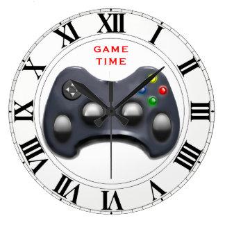 Videospiel-Zeit Große Wanduhr