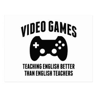 Videospiele, die Englisch unterrichten Postkarte