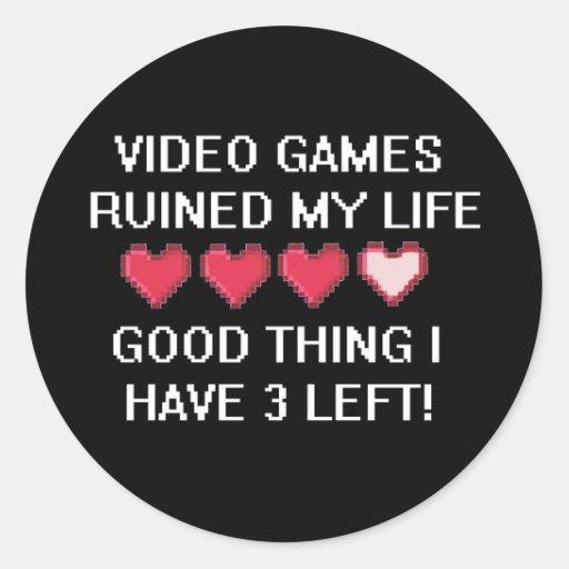 Videospiele ruinierten meinen Lebensstil 1 Aufkleber