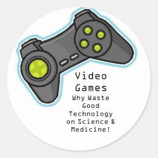 Videospiele Runder Aufkleber