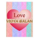 VIDYA BALAN Geschenke:  Goldenes Skript Postkarten