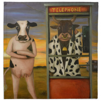 Vieh-Anruf Serviette