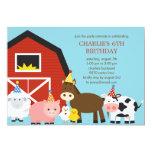 Vieh-Geburtstags-Party Einladung