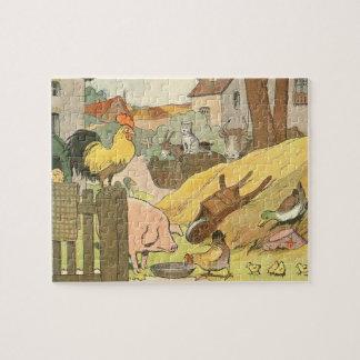 Vieh-Geschichten-Buch illustriert Puzzle