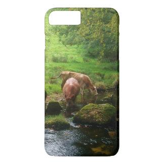 Vieh Golitha Fall-Fluss Fowey Cornwall England iPhone 8 Plus/7 Plus Hülle