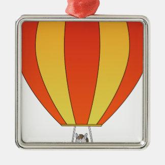Vieh im Ballon Silbernes Ornament