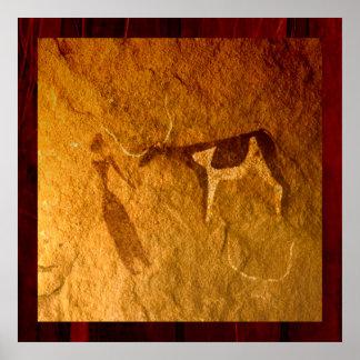 Vieh im prähistorischen Leben Poster