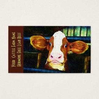 Vieh-Ranch-Kalbfleisch-lustige Kuh Visitenkarten