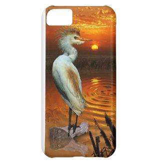 Vieh-Reiher-u. Sonnenuntergang-Fantasie iPhone 5 iPhone 5C Hülle