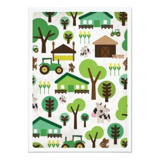 Vieh-Traktor-Kindergeburtstageinladung Individuelle Einladungskarte