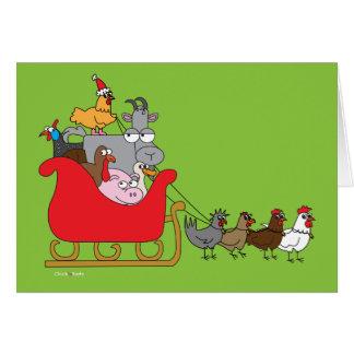 Vieh-Weihnachten Karte