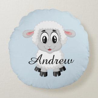 Viehbaby der Schafe scherzt niedliches Raum Rundes Kissen