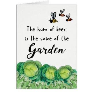 Viel Glück auf Ihrem Garten Karte