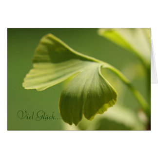 Viel Glück - Ginkgoblatt Grußkarte